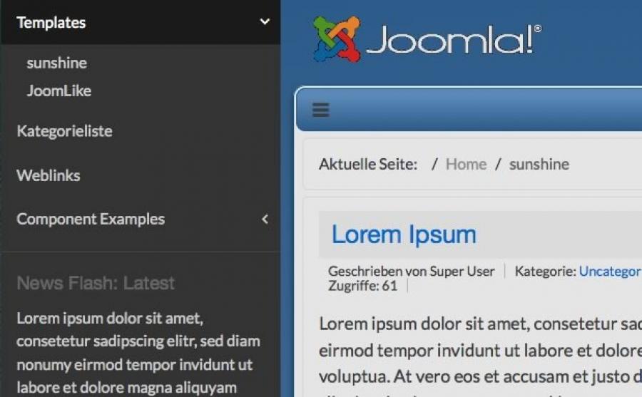 sunshine 30 free responsive joomla template - Free Responsive Joomla Templates